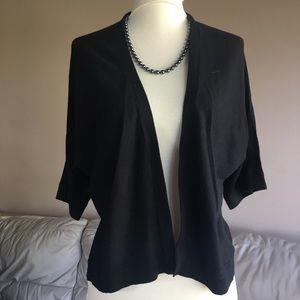 2/$25 NEW! Black Short Sleeve shrug - Size Medium